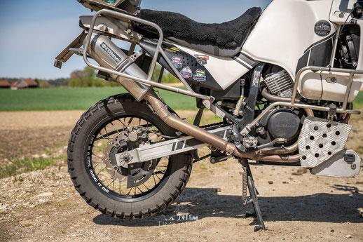 Cobra Auspuff im Rallye-Stil für Honda Transalp