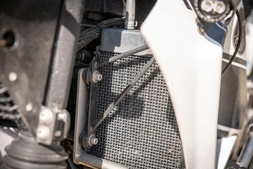 Kühlerschutz - Honda Transalp Umbau