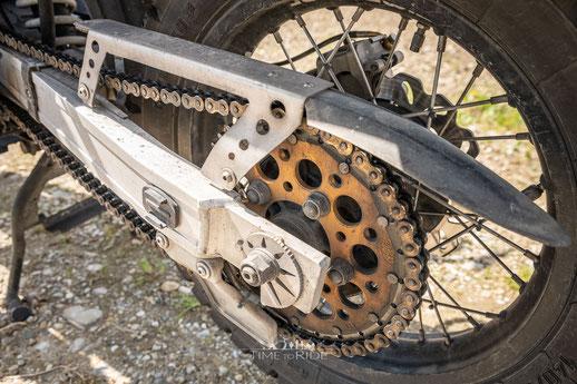Kettensatz & Edelstahl Kettenschutz Honda Transalp