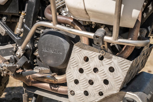 Edelstahl-Krümmer Honda Transalp