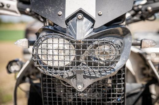 Eigenbau Scheinwerferschutz Acerbis Cyclope - Honda Transalp