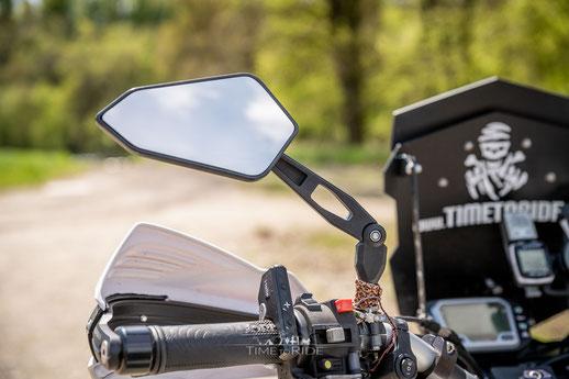 Klappbare Rückspiegel - Honda Transalp Umbau