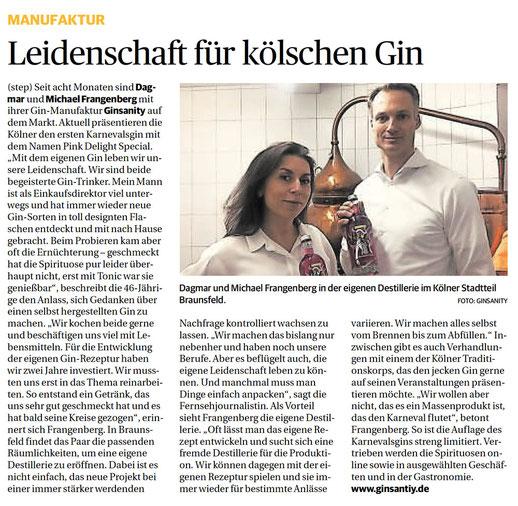 Leidenschaft für kölschen Gin