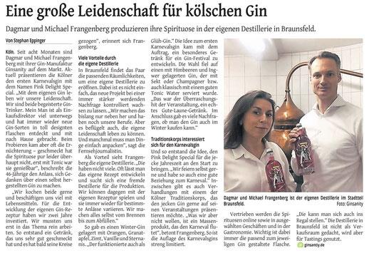Eine große Leidenschaft für kölschen Gin