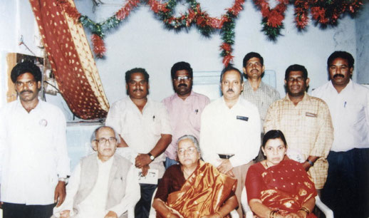 Madhusudan and Subhuddra with friends. Photo courtesy of Nan Wicker