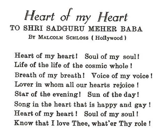 Courtesy of the Meher Baba Journal - May 1939 , page 53