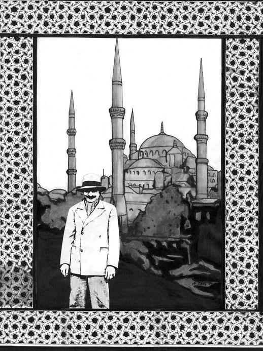 18 : Istanbul. Pen, pensil & montage