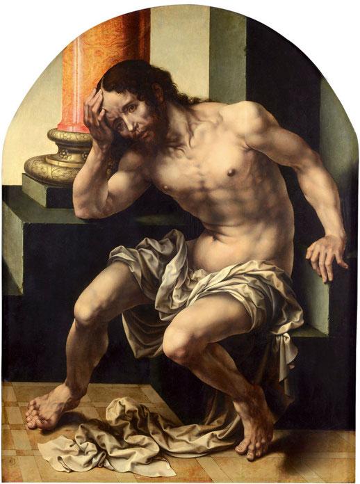 Jan Gossart, Christus auf dem kalten Stein, ca. 1530, Valencia, Museo del Patriarca