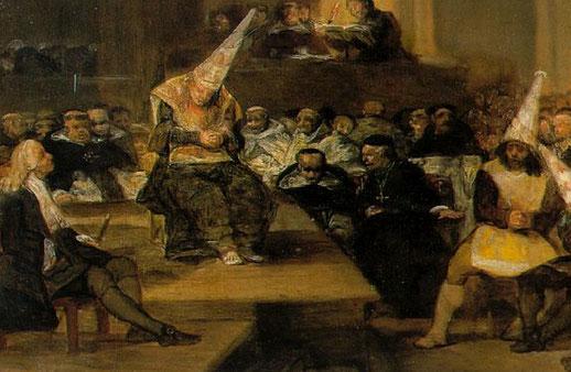 """F. Goya, """"Scena da una inquisizione"""""""