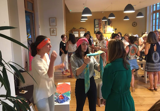 Foulard Fanfaron Carré de soie Afterwork WorkinGirls Bordeaux Evenement