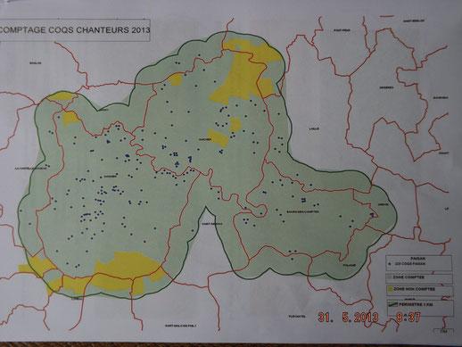 Résultat comptage Guignen , Guichen, Bourg des Comptes (Source FDC 35)