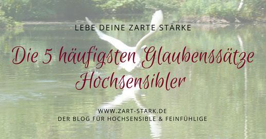 """Foto fliegender Schwan """"Die 5 häufigsten Glaubenssätze Hochsensibler"""""""