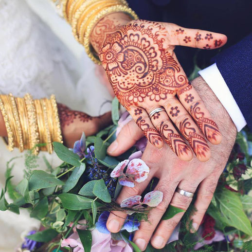 wedding henna for an indian bride in st ives cornwall