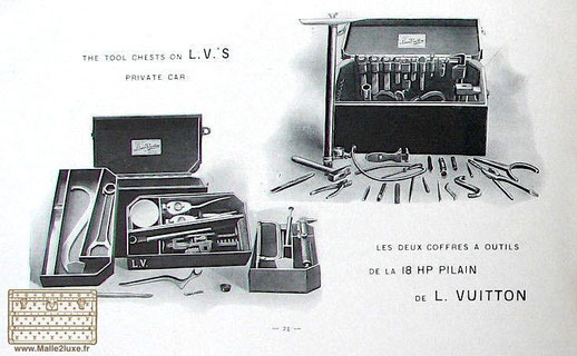 Catalogue Louis Vuitton boite à outils 1900 acajou automobile