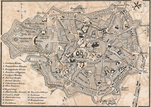 Stadtplan 1850