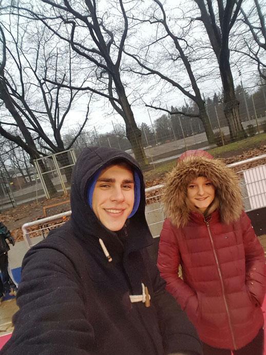 Wetterhelden: Philipp und Johanna haben mit den hch-Kids bei Schnee und Regen trainiert - draußen!