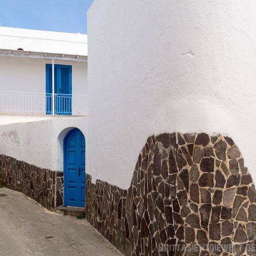 Panarea, Haus, blaue, Tür, Fensterläden, mauer, liparische, insel, beonce, antonio, banderas
