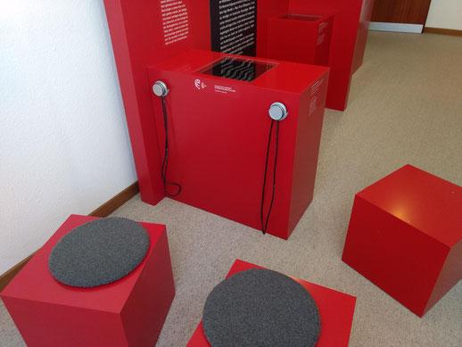 Medienstation zur Hexenverfolgung. Bild: Timo Mäule, mit Genehmigung des Stadtmuseums.