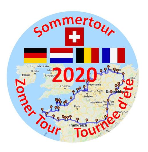 Ape-Sommertour 2020, Mit der Ape durch Europa,
