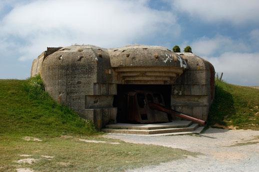 Die deutsche Geschützgruppe von Longues-sur-Mer, Normandie