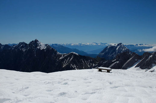 The highest mountain of Germany - Zugspitze