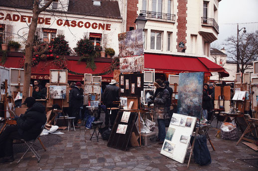 Place du Tertre, artists, Montmartre, Paris