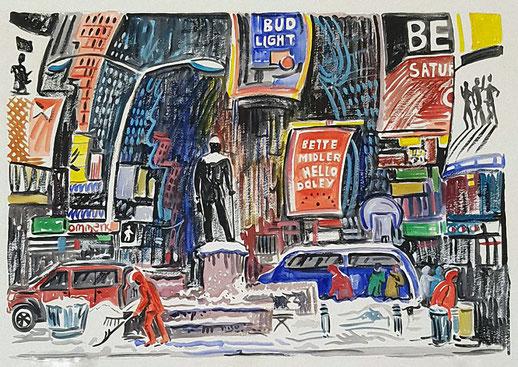 NUEVA YORK (NEW YORK). Watercolor on pressed paper. 56 x 76 x 1 cm.
