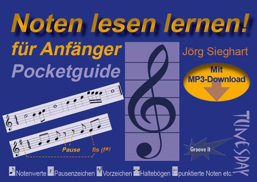 Sieghart, jörg: pocketguide noten lesen lernen für anfänger (+mp3.