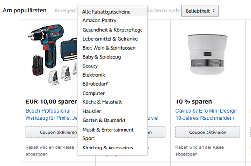 Amazon Aktionscode Beispiele