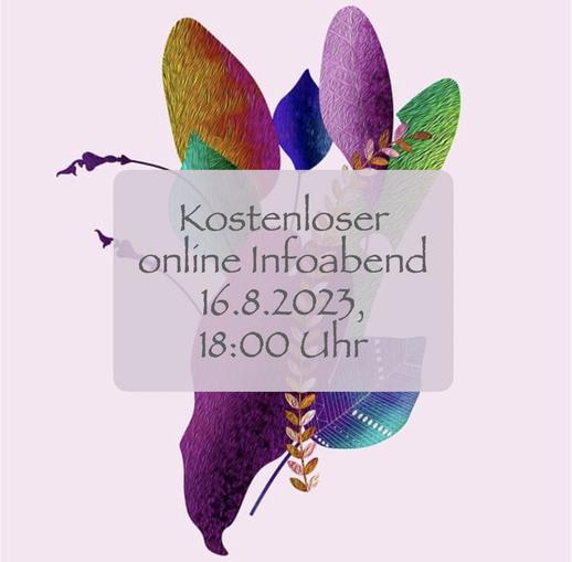 kostenloser Infoabend online 1.10.2021