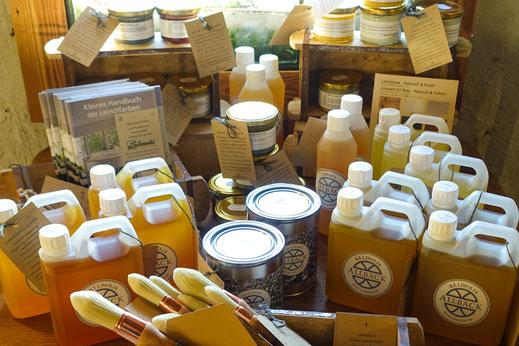 Allbäck-Produkte für den Gartenbesitzer aus dem Sortiment des Leinfarbenhofs