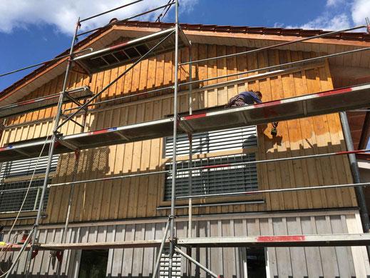 KUNDENPROJEKT Holzhausfassade mit reinem Leinöl von ALLBÄCK