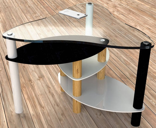 table basse design forme triquetra