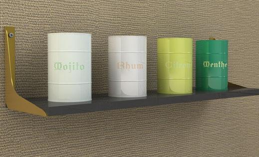 équerre console pour étagère murale design coloris OR