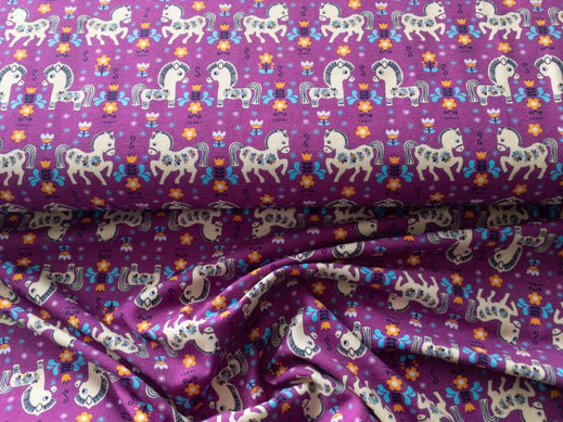 Jersey lila Pferde