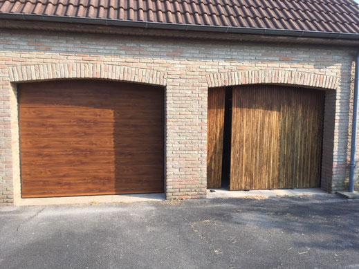 Remplacement portes en bois