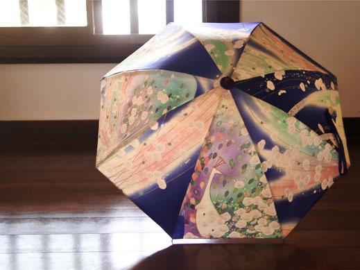 着物日傘「虹の予感」