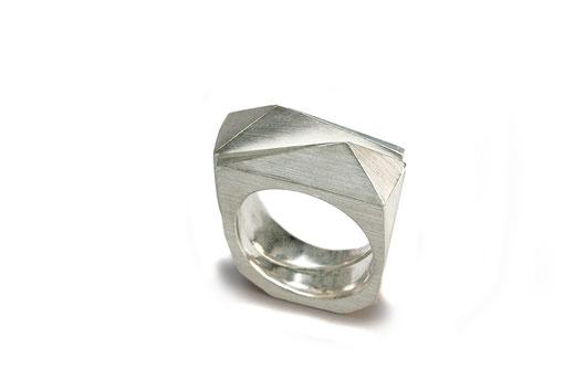 Zwillingsring, 925 Silber