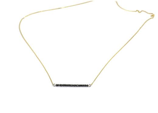 Ein Hauch von Bergluft Halskette mit Schwarze Diamanten und Gold