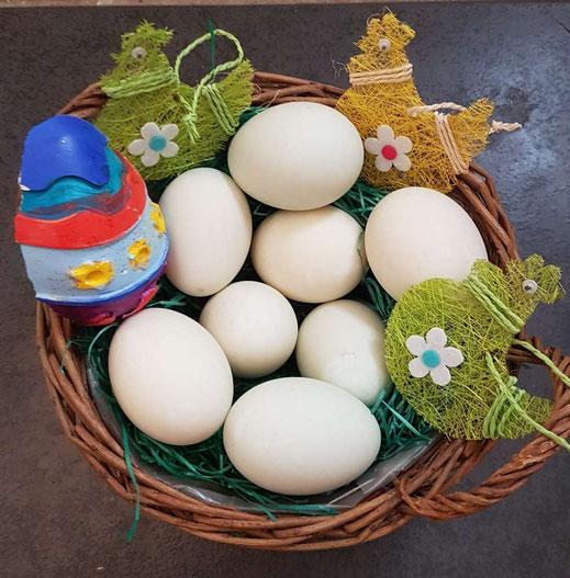 Und hier nochmal der Eierkorb von Petra Maaß