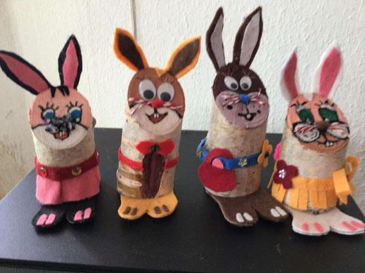 Die Hasenfamilie bei Familie Pump