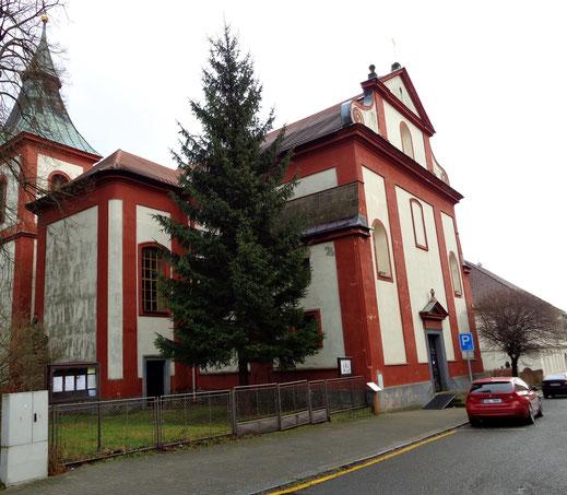 St.Bartholomäus Kirche aus dem 17.J.h. in Doksy