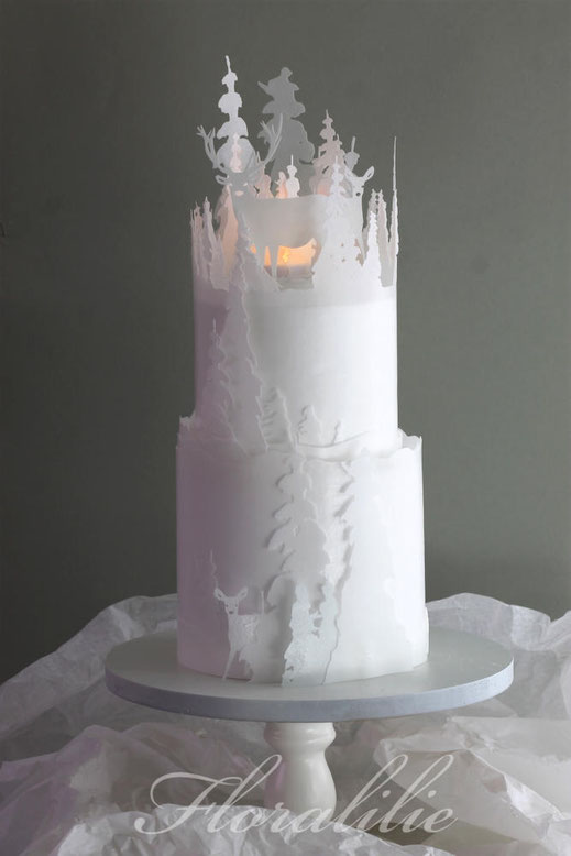 Winter Forest Cake | Floralilie Sugar Art