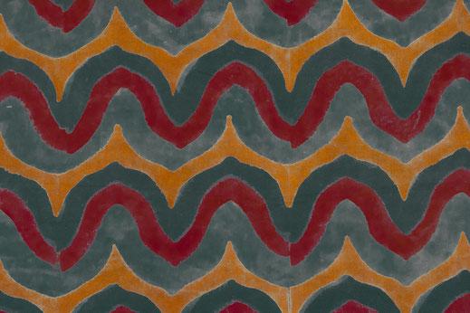 Tissu ajrak du Gujarat dans un motif contemporain.