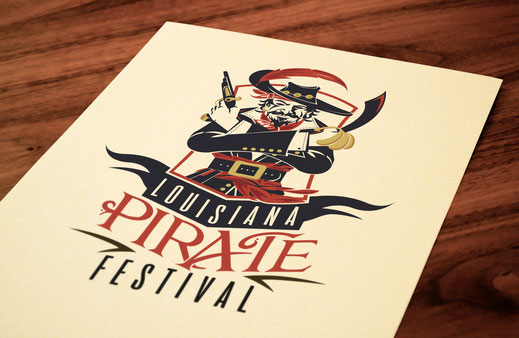 Louisiana Pirate Festival - Graphic Design Lake Charles Louisiana