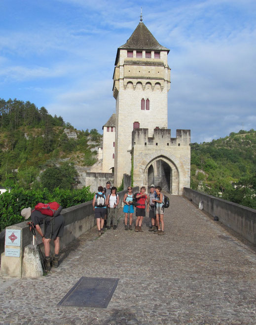 Cahors: le pont Valentré sur le Lot, également appelé pont du Diable