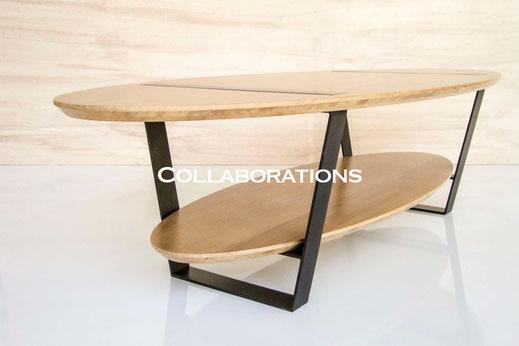 Collaborations Morgan-h créateur de meubles en acier