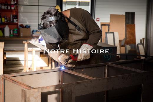 Histoire Morgan-h créateur de meubles en acier