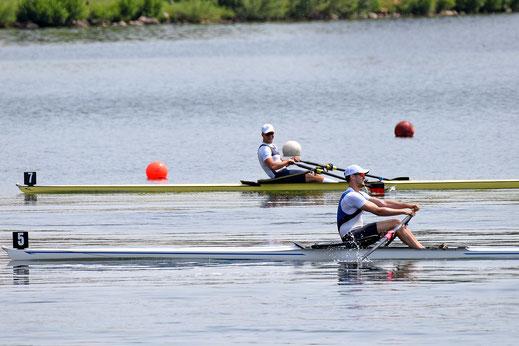 Unter die Top Five gekämpft: Johannes Lotz hinter David Junge auf dem Weg zum engsten WM-Kaderkreis.Foto: 2000meter.de