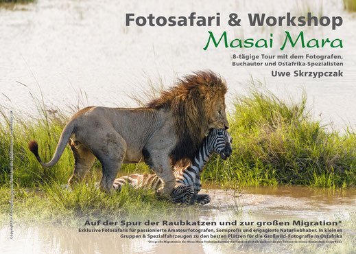 Fotosafari in der Masai Mara in Kenia